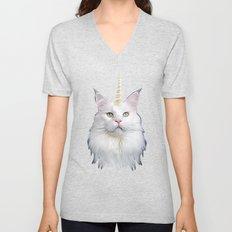 Unicorn Cat Unisex V-Neck