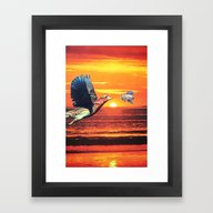 Framed Art Print featuring The Birds And The Bees by John Turck