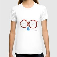 Glasses Womens Fitted Tee White SMALL