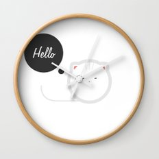 Hello Pets no.3 Wall Clock