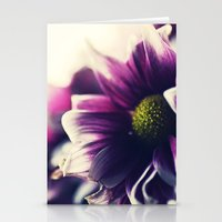 Mother's Day Purple Flower Stationery Cards