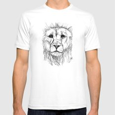 Gesture Lion White SMALL Mens Fitted Tee