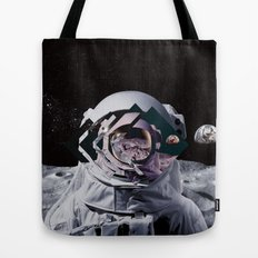 Spaceman oh spaceman, come rescue me (teal) Tote Bag