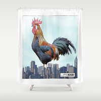 A HUGE COCK Shower Curtain