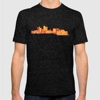 Sydney Mens Fitted Tee Tri-Black SMALL