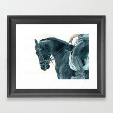 Friesian Horse 2 Framed Art Print