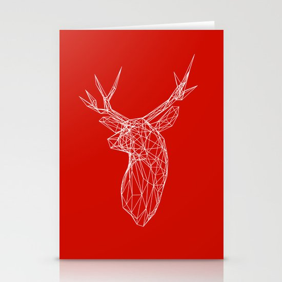 3D Stag Trophey Head Wire Frame Stationery Card