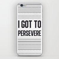 Persevere iPhone & iPod Skin