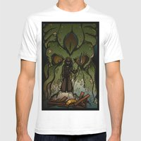 Ktulu Rises Mens Fitted Tee White SMALL