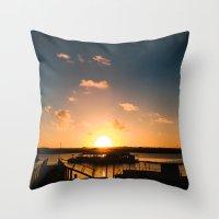 Sun is Going Down Throw Pillow