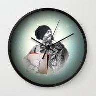 Wall Clock featuring Hipster 1