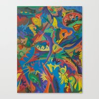 Canvas Print featuring Crazy Dreams of Colour  by Paul Smith