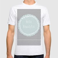 Hello Beautiful, Geometr… Mens Fitted Tee Ash Grey SMALL