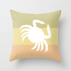 Out At Sea Series - Sideways and Crabby Throw Pillow