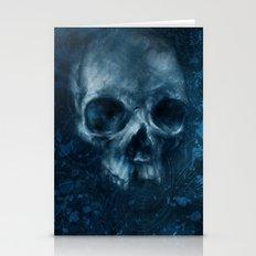 Blue Skull Waves Stationery Cards