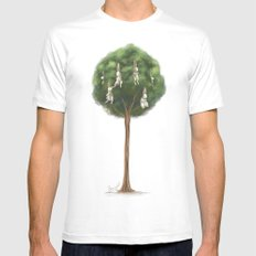 Bunny Tree Mens Fitted Tee White SMALL