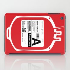 My Blood Type is A, for Awesome! iPad Case