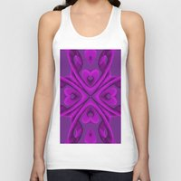 Hot Pink Hearts Unisex Tank Top
