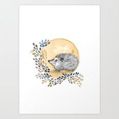 Happy Hedgehog Art Print