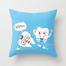 SM Tooth Throw Pillow