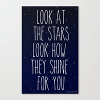 Look How They Shine For … Canvas Print