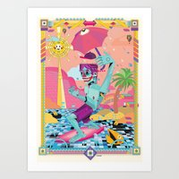surfeur Art Print