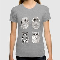 OWL Womens Fitted Tee Tri-Grey SMALL