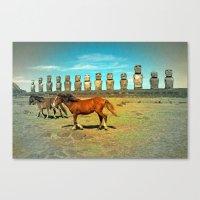 EASTER ISLAND SCENE Canvas Print