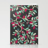 Minty Pinky Branches Stationery Cards