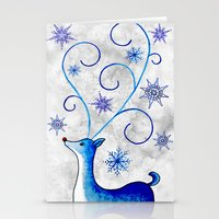 Snowflake Stag Stationery Cards