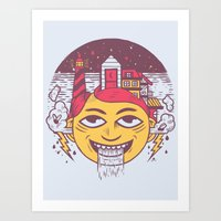 The Land of Headarea Art Print