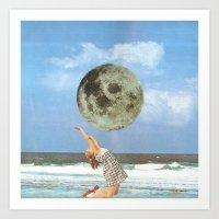 Little Luna At The Beach Art Print