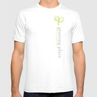 Growing Place - Women's V-Neck + Hoodie Mens Fitted Tee White SMALL