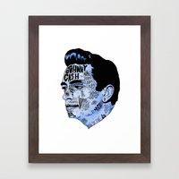 Johnny Cash- Blue Framed Art Print