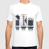 Vintage  Vacuum Tubes Mens Fitted Tee White SMALL