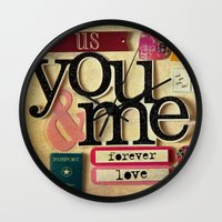 Collage Love - You & Me Wall Clock