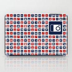 Travel Icons in RWB iPad Case