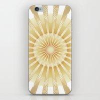 Golden Rays Mandala iPhone & iPod Skin