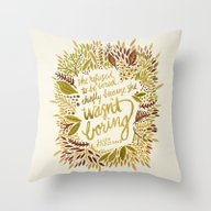 Throw Pillow featuring Zelda Fitzgerald – Fal… by Cat Coquillette