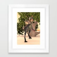 Dinosaur Gigantoraptor Framed Art Print