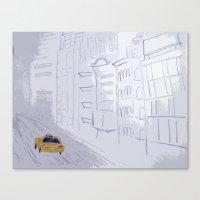 Taxi City Canvas Print
