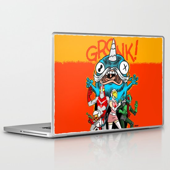 the Cryptid Crew VS Uncle Corny Kaiju Laptop & iPad Skin