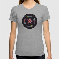 Circles Of Gators Womens Fitted Tee Athletic Grey SMALL
