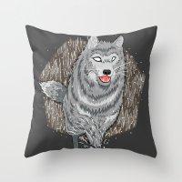 Husky In Winter Throw Pillow