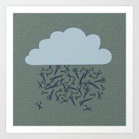 IT'S RAINING BLADES Art Print