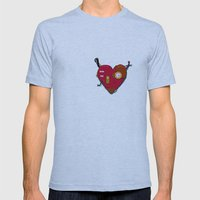 Robot Heart Mens Fitted Tee Athletic Blue SMALL