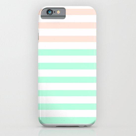 MINT & PEACH STRIPES iPhone & iPod Case