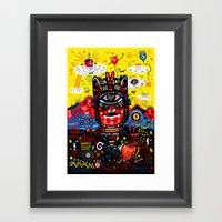 Bright Magic Day Framed Art Print