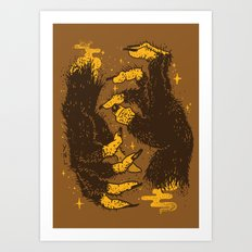 Monster Hands Art Print