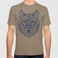 ice wolf Mens Fitted Tee Tri-Coffee SMALL